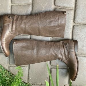 FRYE Woman's At The Knee Leather Boots Size 9
